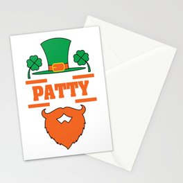 """""""It's Patty Time""""  tee design. Makes an awesome gift to your family and friends too! Grab your now!  Stationery Cards"""
