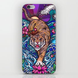 Zen Tiger by Julie Oakes iPhone Skin