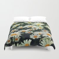 daisies Duvet Covers featuring Daisies by KunstFabrik_StaticMovement Manu Jobst