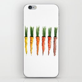 Happy colorful carrots iPhone Skin