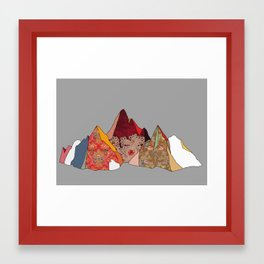 3 Mountains Framed Art Print