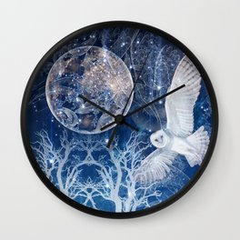 The Temple of the Full Moon Wall Clock