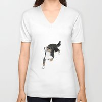 jack white V-neck T-shirts featuring Jack by Lucie Mizutani
