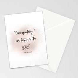 Champagne love III Stationery Cards