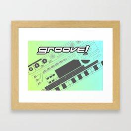 Groove! Framed Art Print