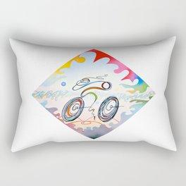 """Bicycle """"1km"""" Rectangular Pillow"""