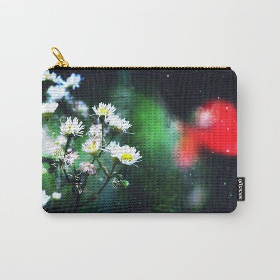 Flowers, My Heart And The Stars Carry-All Pouch