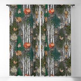 Sleepy Scandinavian Forest Blackout Curtain
