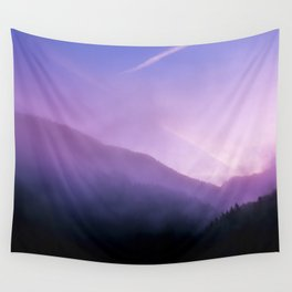 Morning Fog - Landscape Photography Wall Tapestry