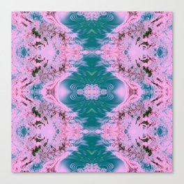 Japanese Water Gardens Fractal Abstract Canvas Print