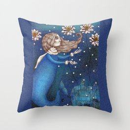 The Mermaid's Lake--The Underwater Palace Throw Pillow