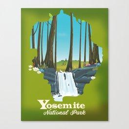 Yosemite National park waterfall. Canvas Print