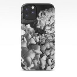 Hydrangeas Black and White iPhone Case
