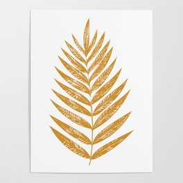 Golden Fern Poster