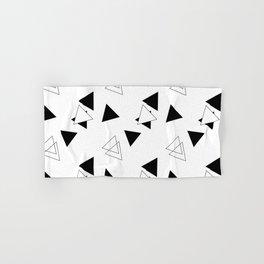 Modern Black Triangles Hand & Bath Towel
