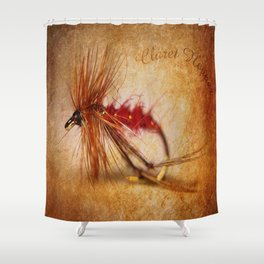 Claret Hopper Shower Curtain