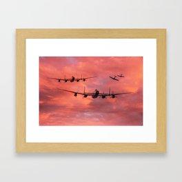 Spitfire Top Cover - Dawn Raid Framed Art Print