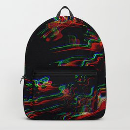 TRIPPY COLORFUL WATER RIPPLES Backpack