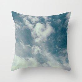 Soft Dreamy Cloudy Sky Throw Pillow