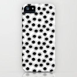 Googly eye pattern – white iPhone Case