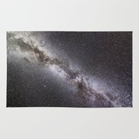 milky way Area & Throw Rugs featuring Milky Way by Space99