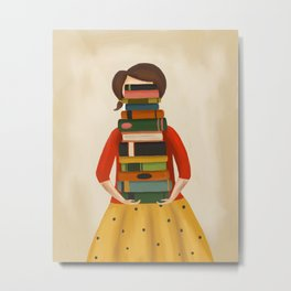 Marlowe Visits the Library Metal Print