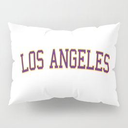 Los Angeles Sports College Font Pillow Sham