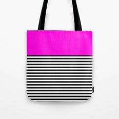 STRIPE COLORBLOCK {PINK} Tote Bag