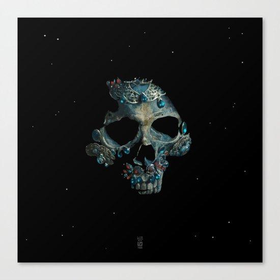 Holy Starman Skull Canvas Print