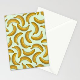 Fruit pattern. Background from bananas with realistic shadows Stationery Cards