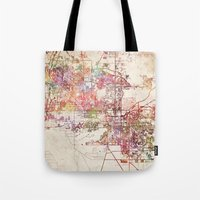 phoenix Tote Bags featuring Phoenix  by MapMapMaps.Watercolors