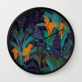 Midnight Jungle Wall Clock