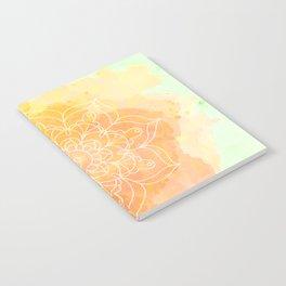 Watercolor Mandala // Sunny Floral Mandala Notebook