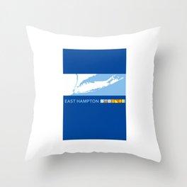 East Hampton - Long Island. Throw Pillow