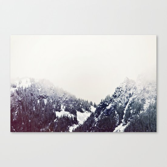 Vintage Snowy Mountain Canvas Print