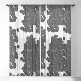 Circles   Black Minimalist Sheer Curtain