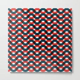 Wavy Lines 1001 Metal Print