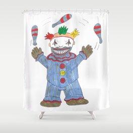 Creepy Twisty Clown Shower Curtain