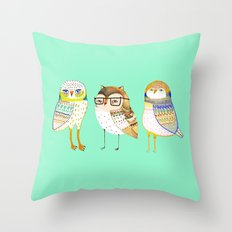 The Cutest owls. Throw Pillow