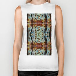 ABSTRACT ICICLES Biker Tank