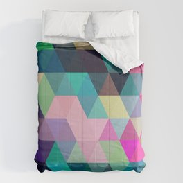 Colorful, Triangular  low poly, mosaic pattern background, Vector polygonal illustration graphic, Cr Comforters