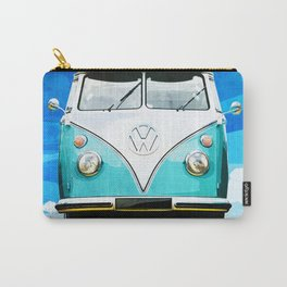 VW CAMPER BLUE - ILLUSTRATION Carry-All Pouch