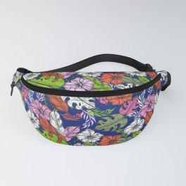 Bright tropical flowers - pattern no 1 Fanny Pack