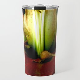 Red Green Yellow Blossom with Calyx Travel Mug