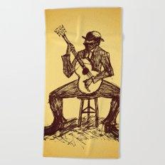 The Blues Man Beach Towel