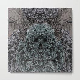 Skull Peaces Metal Print