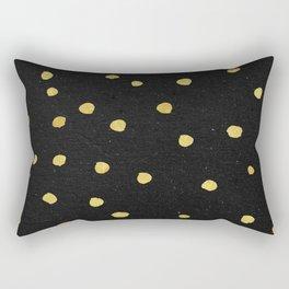 Golden Copper Dots Pattern Rectangular Pillow