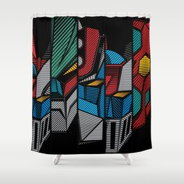 137 Go Nagai Five Shower Curtain