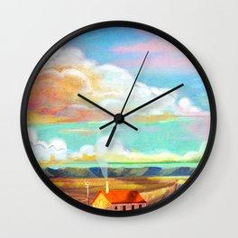 bright sky on the fields Wall Clock