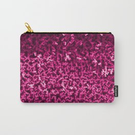 Cubes in Red/Pink Carry-All Pouch